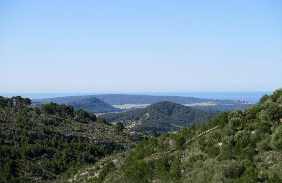 Son Font: Bauprojekt für ein 4 Schlafzimmer-Landhaus mit Meerblick oberhalb von Calvia zu verkaufen