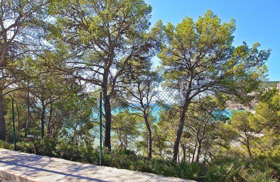 SPANISCH Mallorca: Baugrundstück in Camp de Mar mit Teilmeerblick