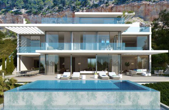 Port Andratx : Villa neuve en construction avec vue mer sur Dragonera