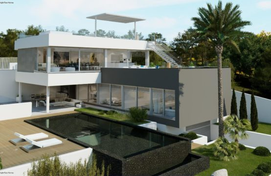 Santa Ponsa: Top equipped new build villa with sea views in three directions for sale