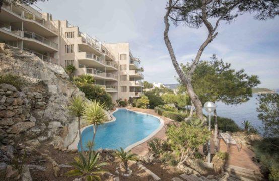 Mallorca: schönes Apartment in Anlage in Cala Vinyas mit Blick auf die Bucht von Palma