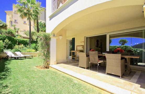 A vendre, Port d'Andratx, Appartements de deux chambres avec jardin et piscine en résidence de luxe