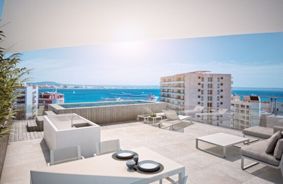 Palma: New development of a complex of 15 apartments and semi-detached house in modern style