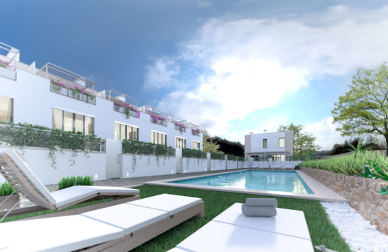 Port Andratx: new build townhouses with generous community pool in walking distance to the harbour