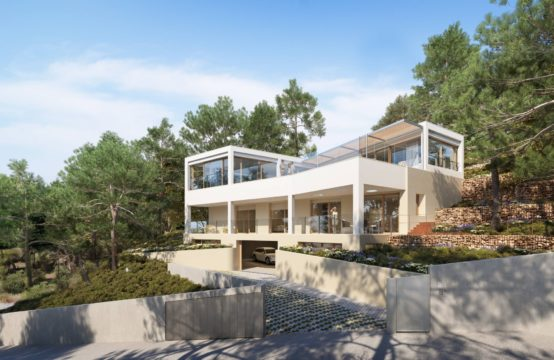 Mallorca: beautiful new built villa with pool and sea views Costa D'en Blanes