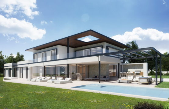 Nova Santa Ponsa: Almost 5,000 m2 of land directly on the golf course with modern project and submitted license for sale