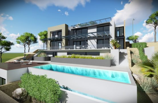 Port Andratx: New build villa in top location high above the port of Andratx for sale