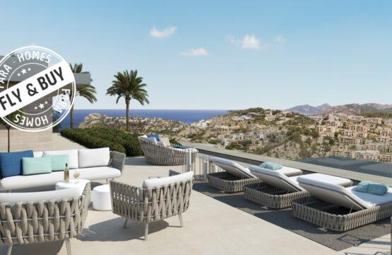 Port Andratx: Baugrundstück mit Lizenz für eine moderne Villa mit Meerblick zu verkaufen
