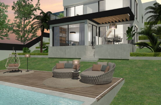 Costa den Blanes: Project with license for a modern villa for sale