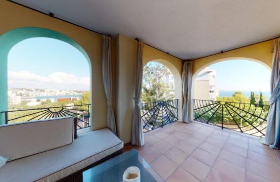 Bendinat: 3 Schlafzimmer Apartment mit Meerblick in einer sehr beliebten Anlage