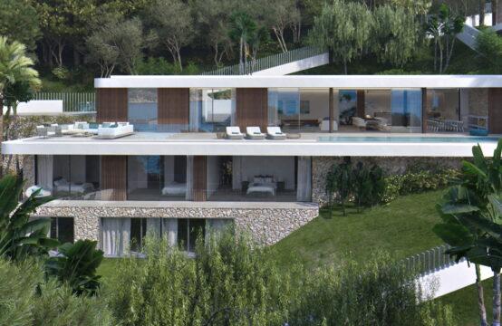 Camp de Mar: projektierte Villa mit Traum-Meerblick und 12 Meter Pool