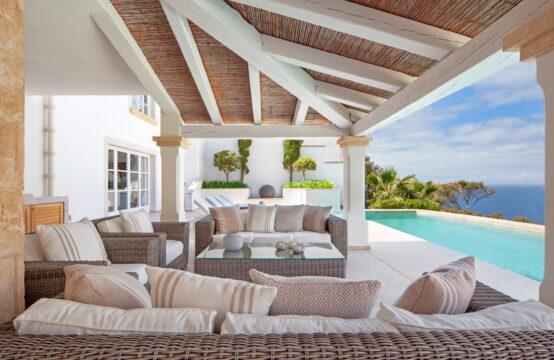 Port Andratx: modernisierte Villa im Finca Stil mit 5 Schlafzimmern und Meerblick zu verkaufen